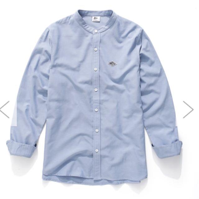 NAVY中山領藍襯衫