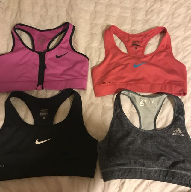Nike and Adidas sports bras
