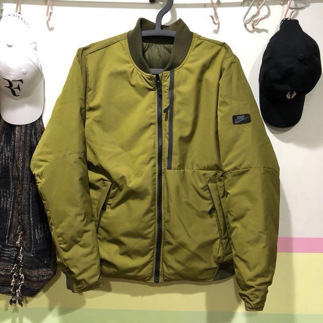 Nike 雙面外套(羽絨外套/飛行夾克)XL號