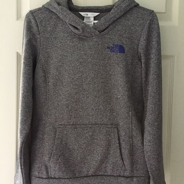 North Face fleece lined hoodie XS