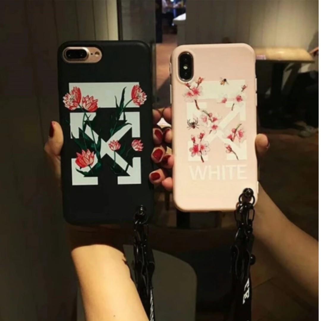 meet fba53 2af62 Off White Flower Desine Iphone Casing [PO]