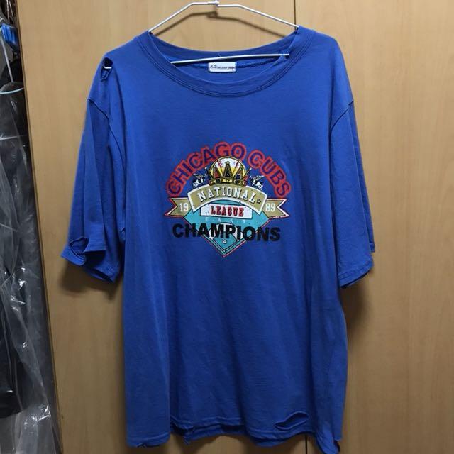 Over size 個性上衣(藍)