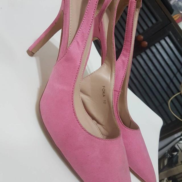 Pink Pointed Heels