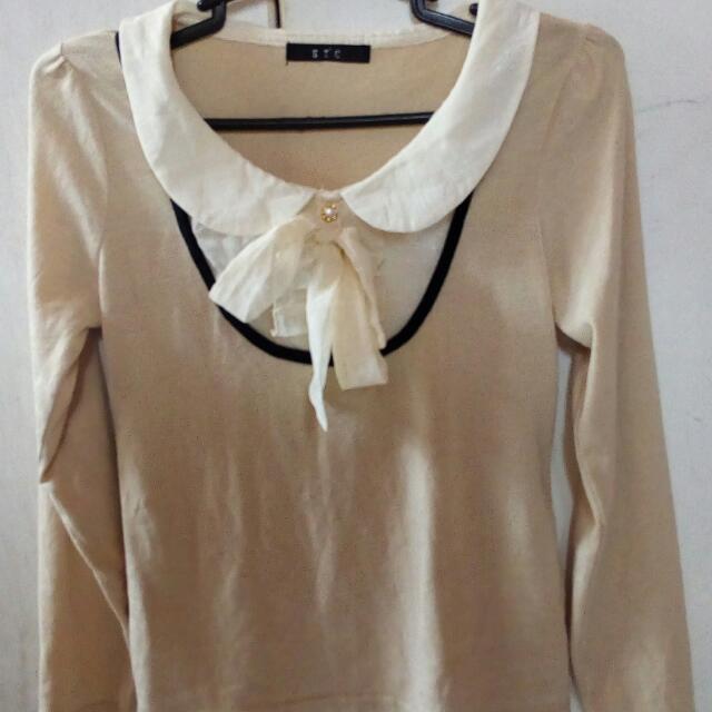 Plus Size Korean Knit Blouse L