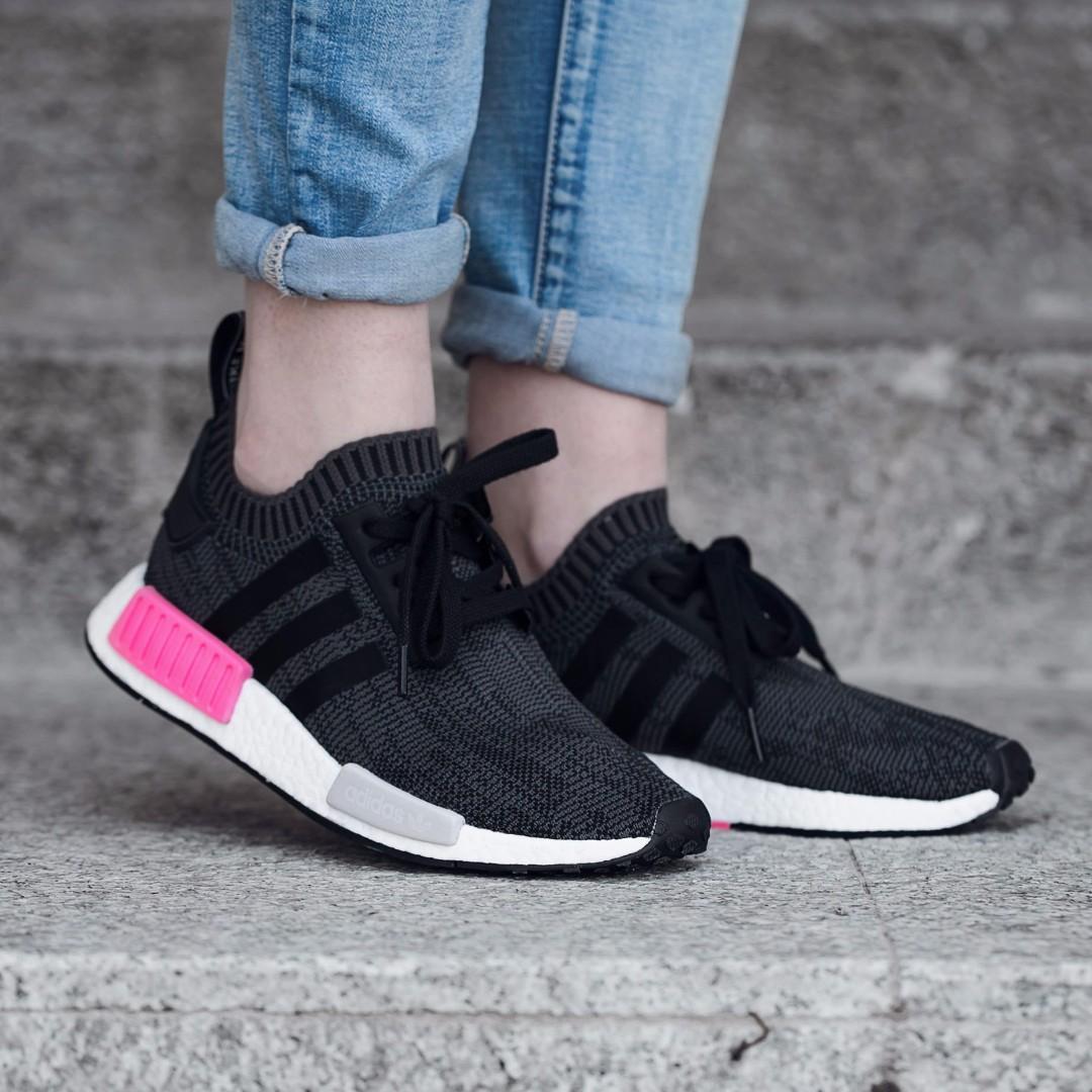 661e608e04c5d PO) Adidas Womens NMD PK Black   Hot Pink