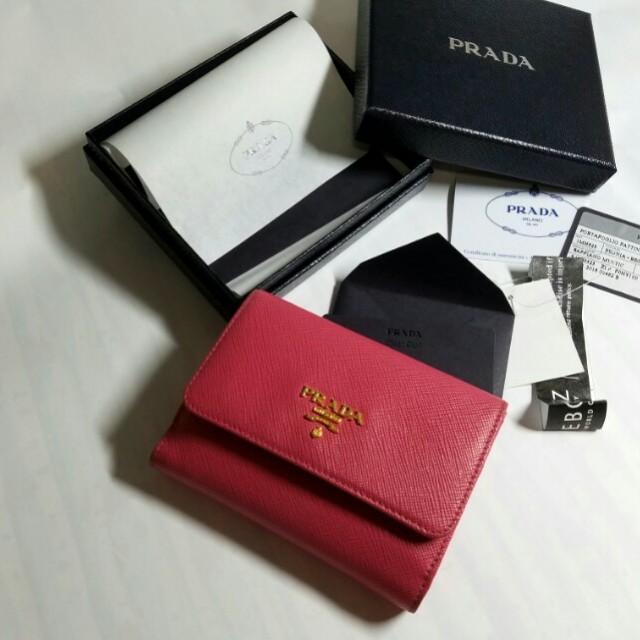 22c5d36e133b Prada Saffiano Short Flap Wallet - Best price