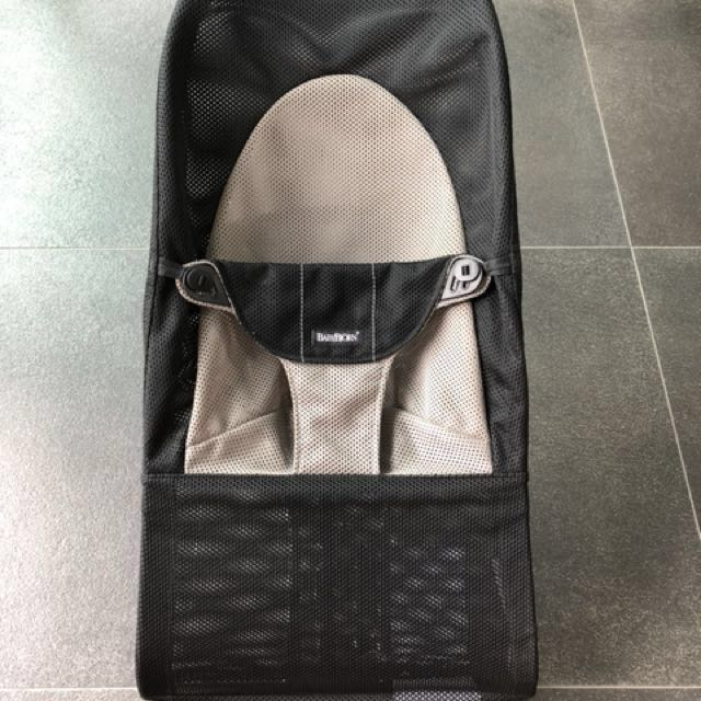8a521c7f724 Preloved Baby Bjorn Bouncer Balance Soft - Black grey mesh on Carousell
