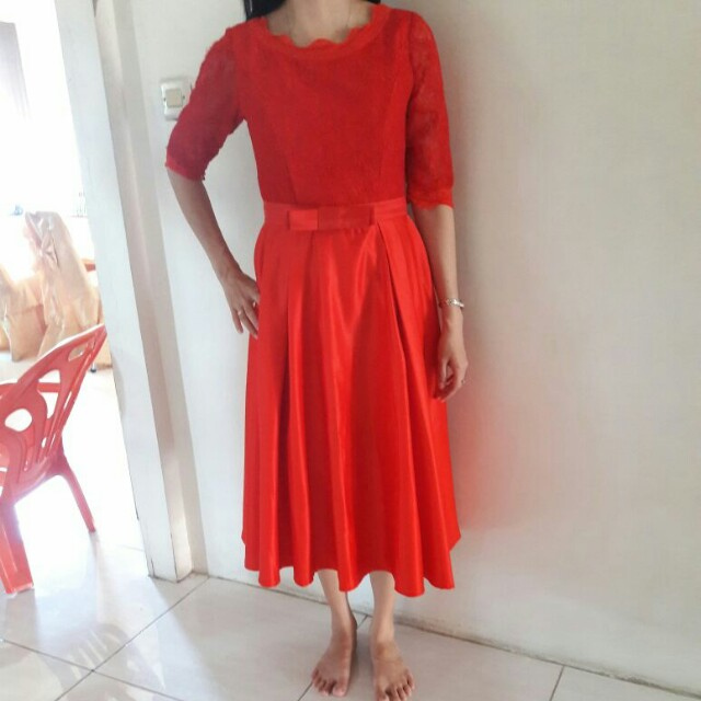 Premium Red Party Dress