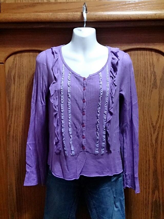 百貨公司專櫃PS 紫色針織長袖上衣