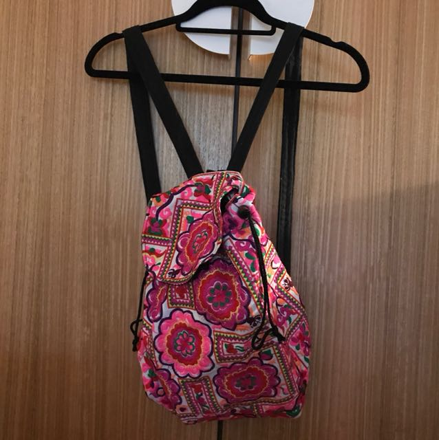 Rare Cute floral embroidery backpack