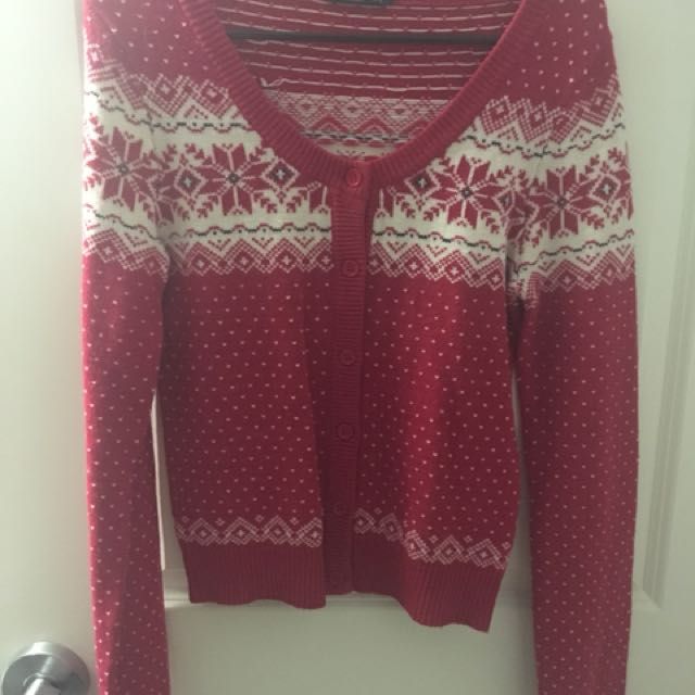 Red Bluenotes Sweater