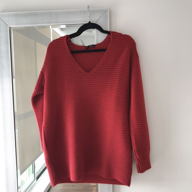 Red oversized top