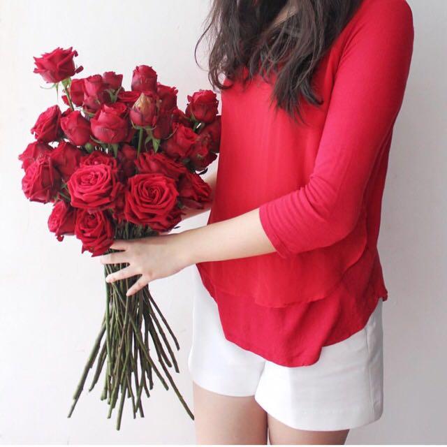Red tshirt by bershka