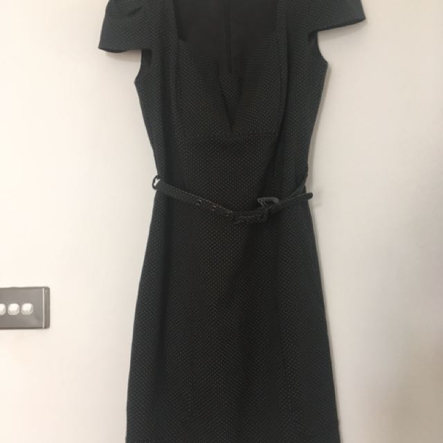 Review navy blue size 8 dress