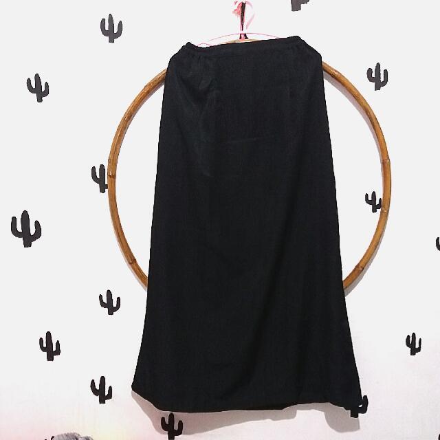 rok span hitam ukuran xl