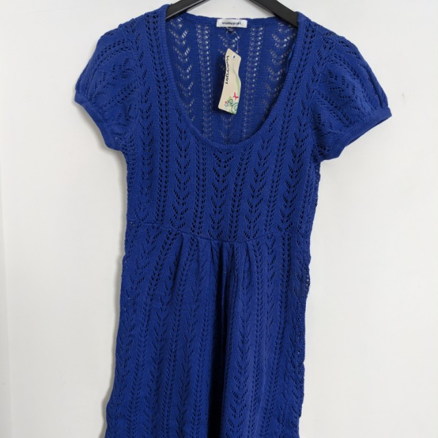 Royal blue knitted dress from Valleygirl