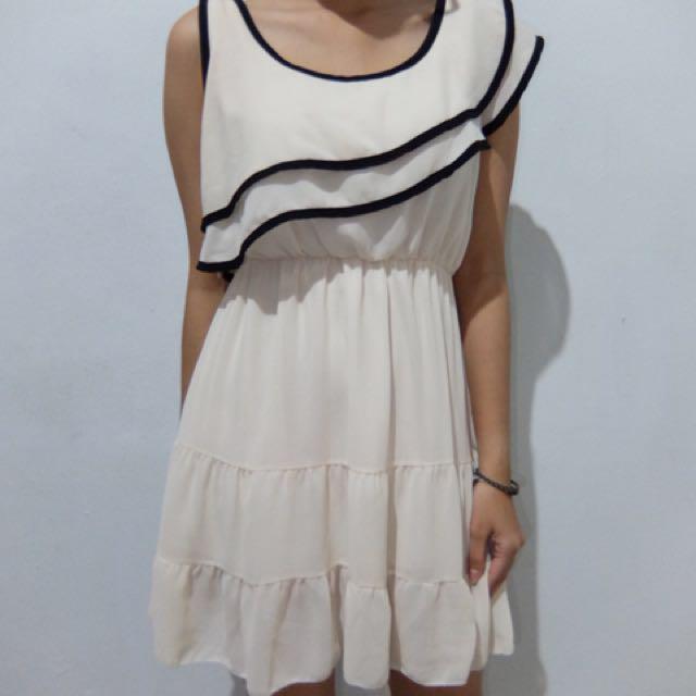 Semi One Shoulder Dress