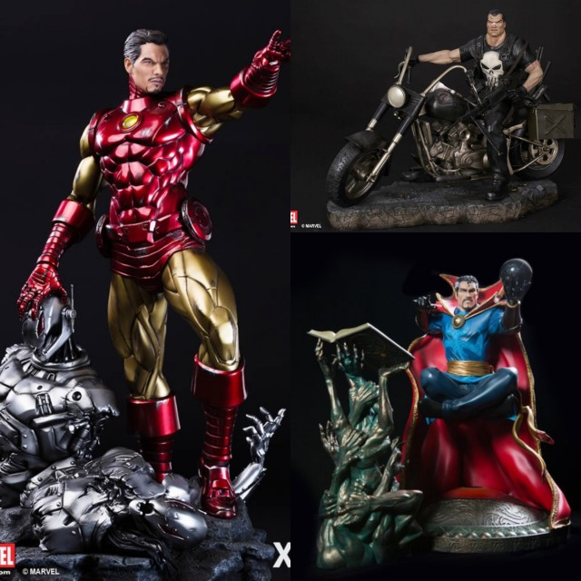 Set of 3 XM Studios Marvel Classic Iron Man,Punisher,Dr Strange 1/4 statue toy figure, Toys & Games, Bricks & Figurines on Carousell