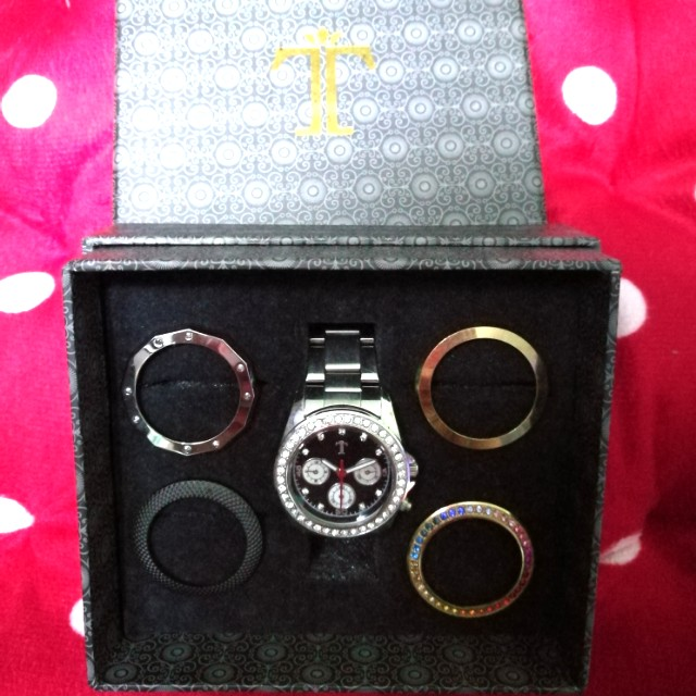 Silver 5-Ring Watch Set