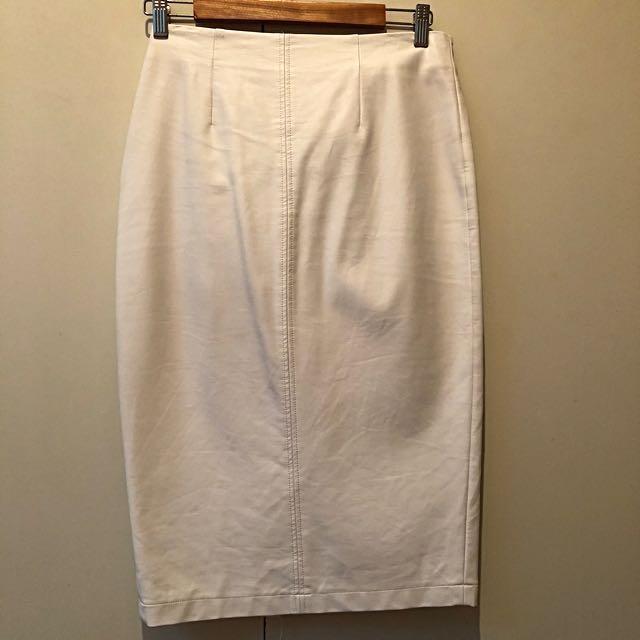 Sportsgirl White pencil skirt XS (8)