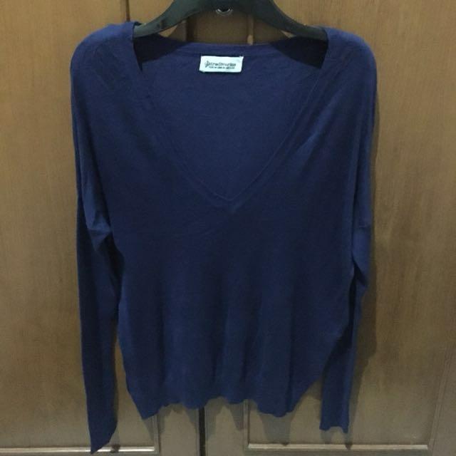 Stradivarius V Neck Knit Shirt