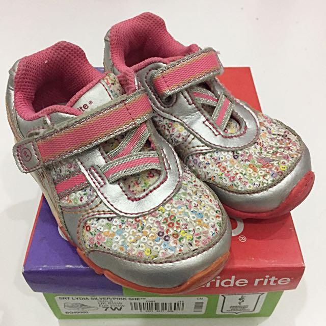 Stride Rite Silver-Pink Sneakers
