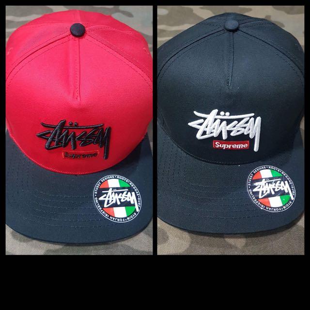 Stussy x Supreme Snapback Cap 450 each 25542e5dda5