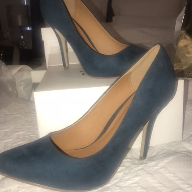 Suede heels size 41