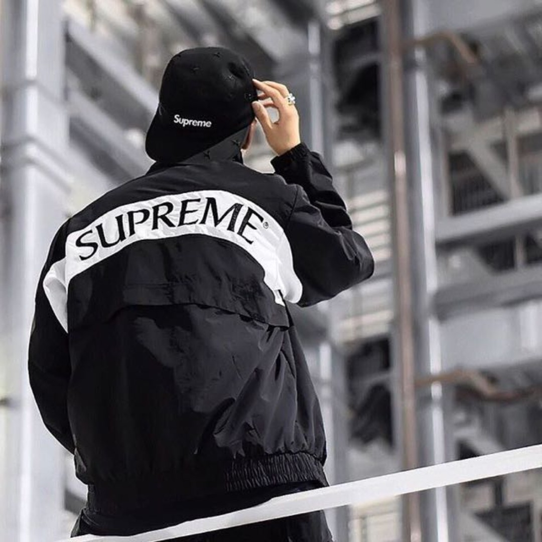 Supreme Arc Track Jacket 黃金黑M