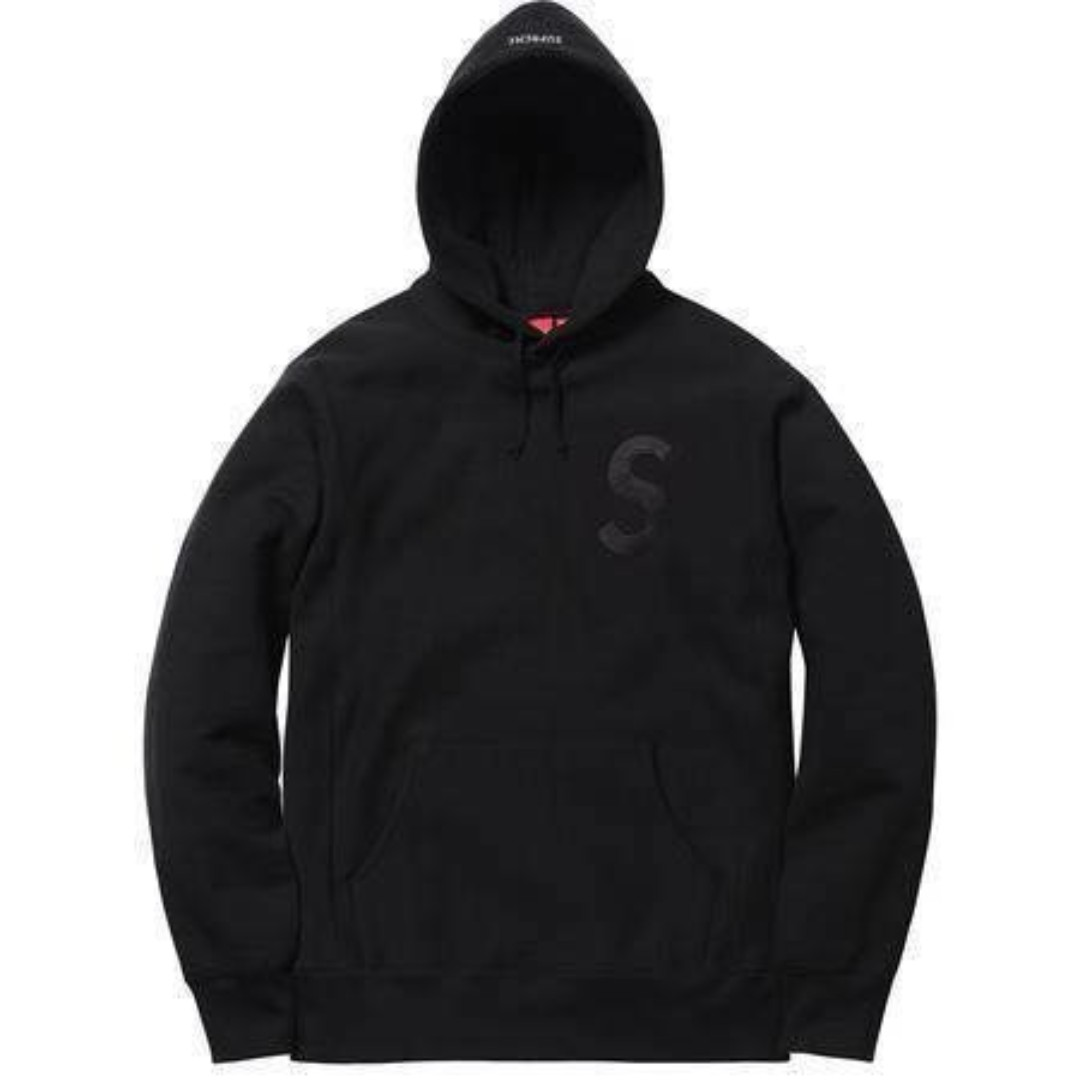 Supreme Tonal S Logo Hooded 黑 L 【狀況】:全新正品