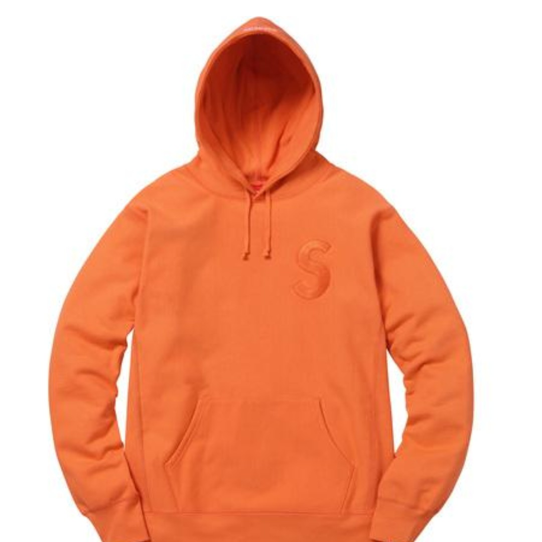 Supreme Tonal S Logo Hooded 帽Tee 橘L