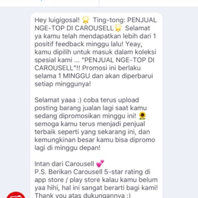 Thx you So much CAROUSELL