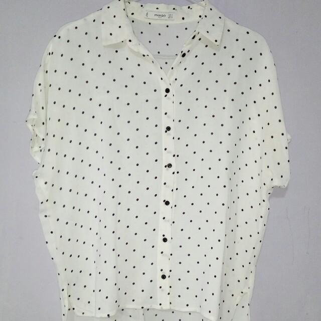 Top polkadot white