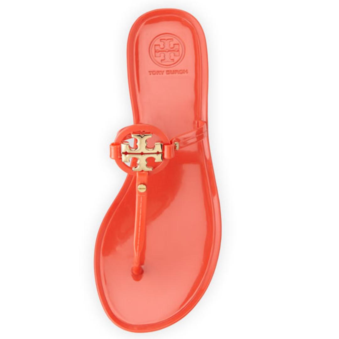 de34b6e7f Tory Burch Mini Miller Jelly Thong Sandals TPU - Poppy Coral Orange ...