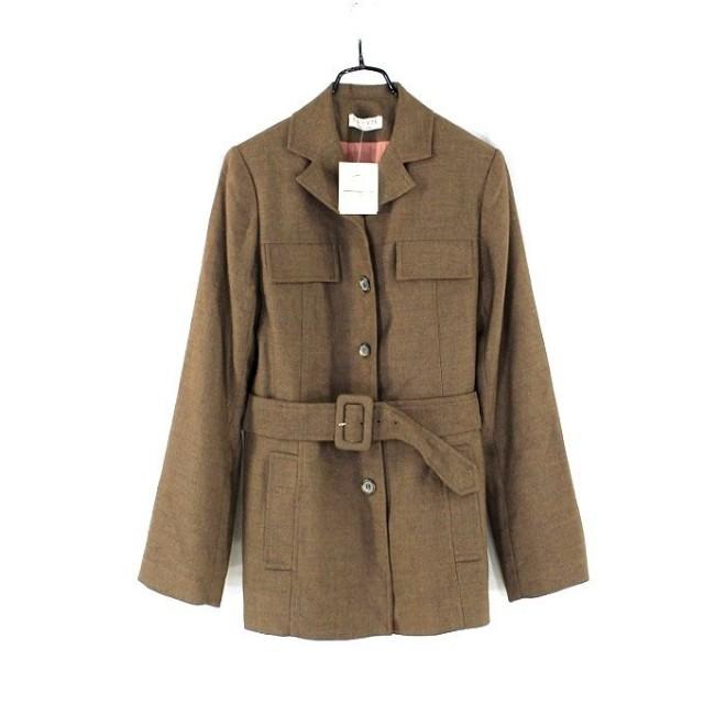 ※專櫃品牌【T-PARTS】咖啡色腰帶長版外套