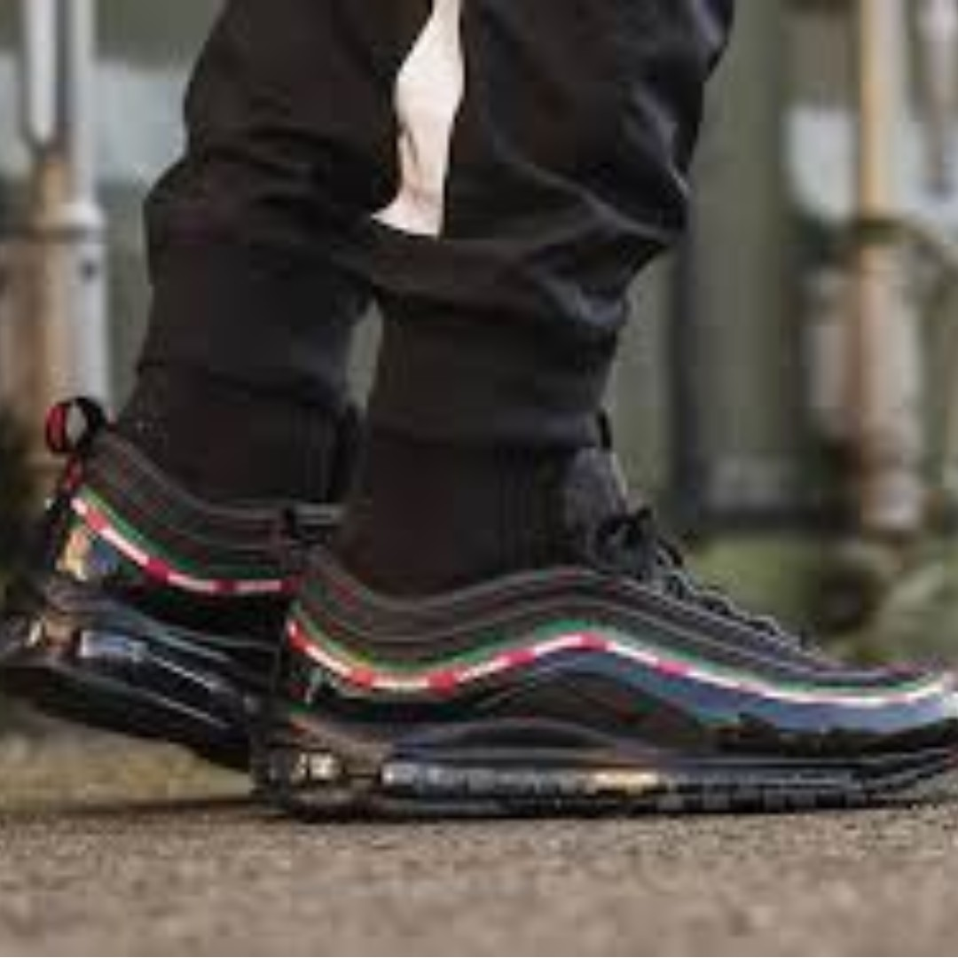 competitive price 781df 4ab95 Undefeated x NIKE Air Max 97 - Black US10.5, Men's Fashion ...