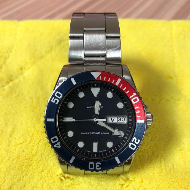 Vintage Seiko Divers Watch 7s26 0040 10 Bar Automatic Day Date