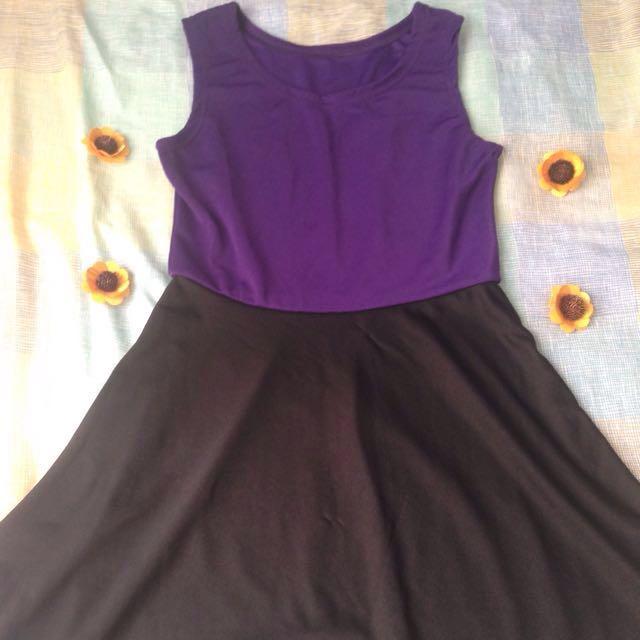Violet & Black Dress