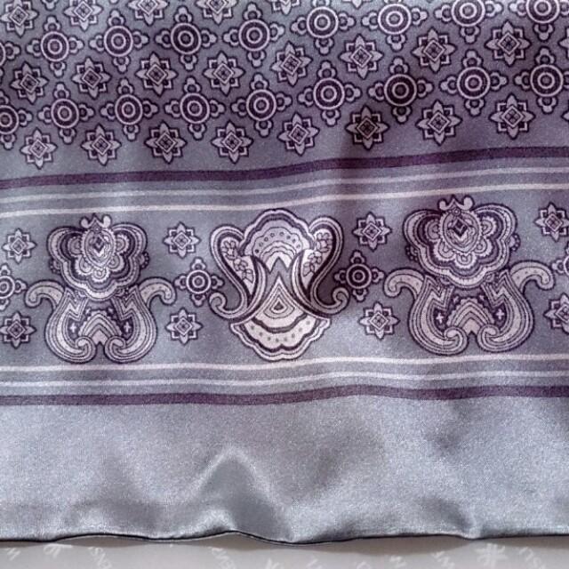 中國浙江杭州絲綢品牌WENSLI 星辰傳說 灰色 男用 蠶絲長巾禮盒(附紙袋)