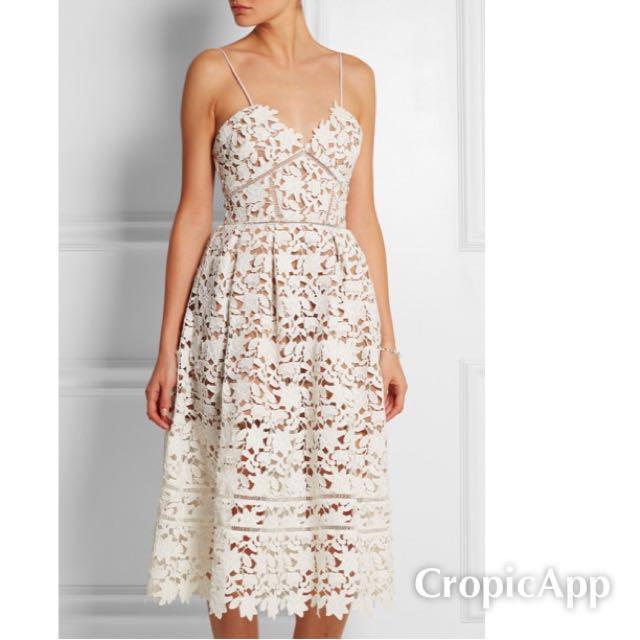 White Azalea Lace Dress Size 6 US, 10 UK