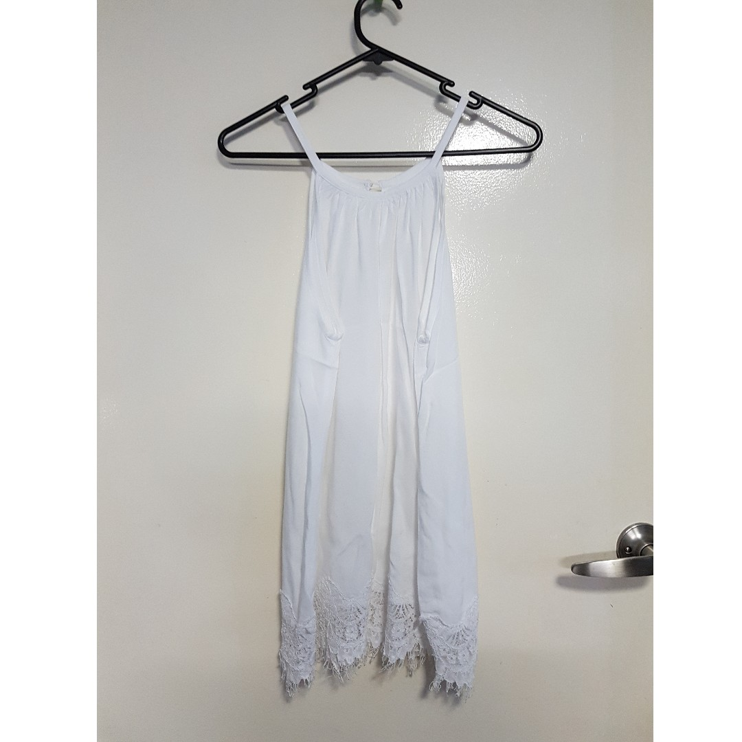 White Singlet with Lace Detail