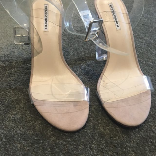 Windsor Smith clear block heels. Size 9.5