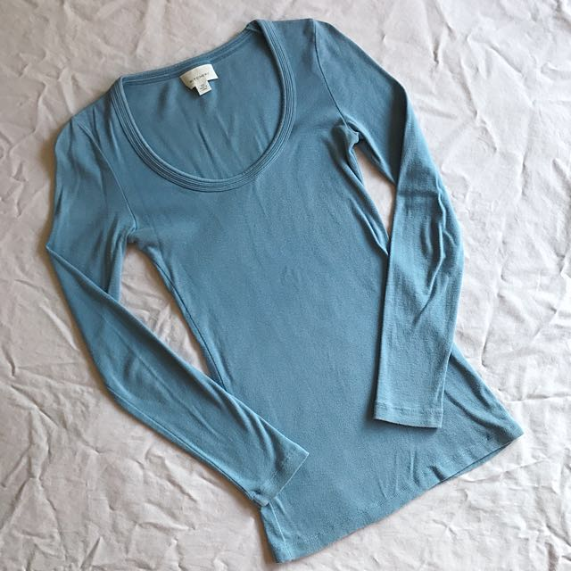 Witchery Blue Long-Sleeve Top