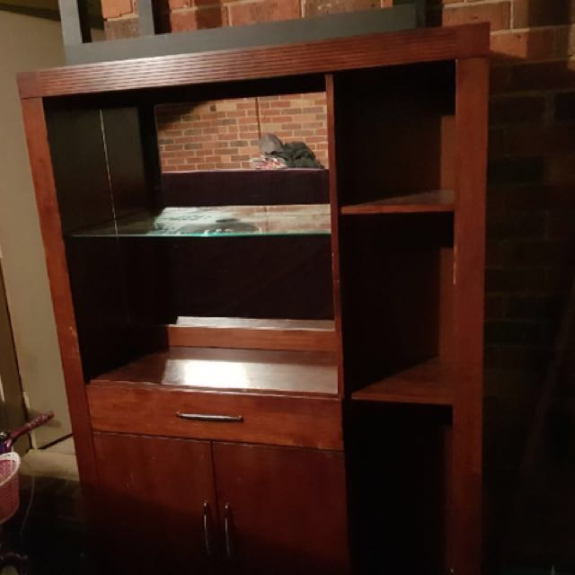 Wood Liquor/Display Cabinet