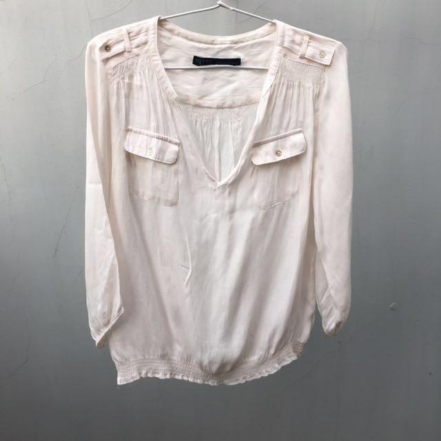 Zara Basic top blouse