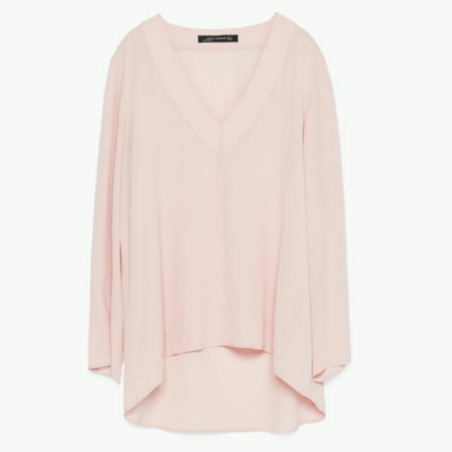 6da1eb0e9e3f51 Zara Light Pink Top