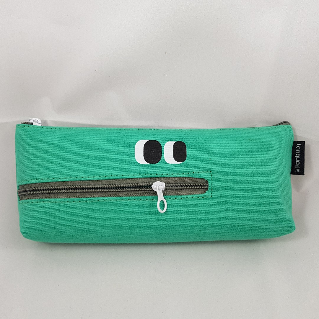 Zipper Mouth Monster Pencil Case (Green)
