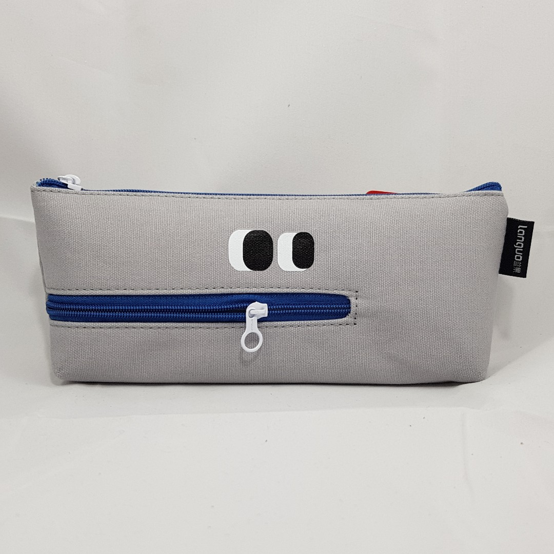Zipper Mouth Monster Pencil Case (Grey)