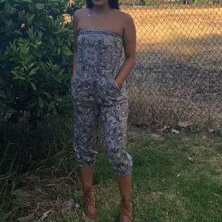 Size  6-8 jumpsuit boho