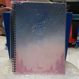 TWICE TWISTAR Japan Once Limited Season's Greetings Note Book